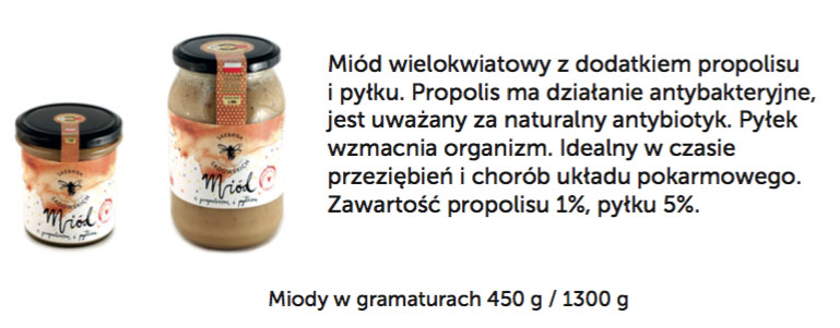Miód z pyłkiem i propolisem