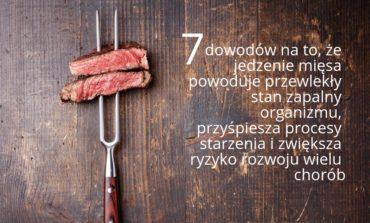7 dowodów na to, że jedzenie mięsa powoduje przewlekły stan zapalny organizmu, przyśpiesza procesy starzenia i zwiększa ryzyko rozwoju wielu chorób